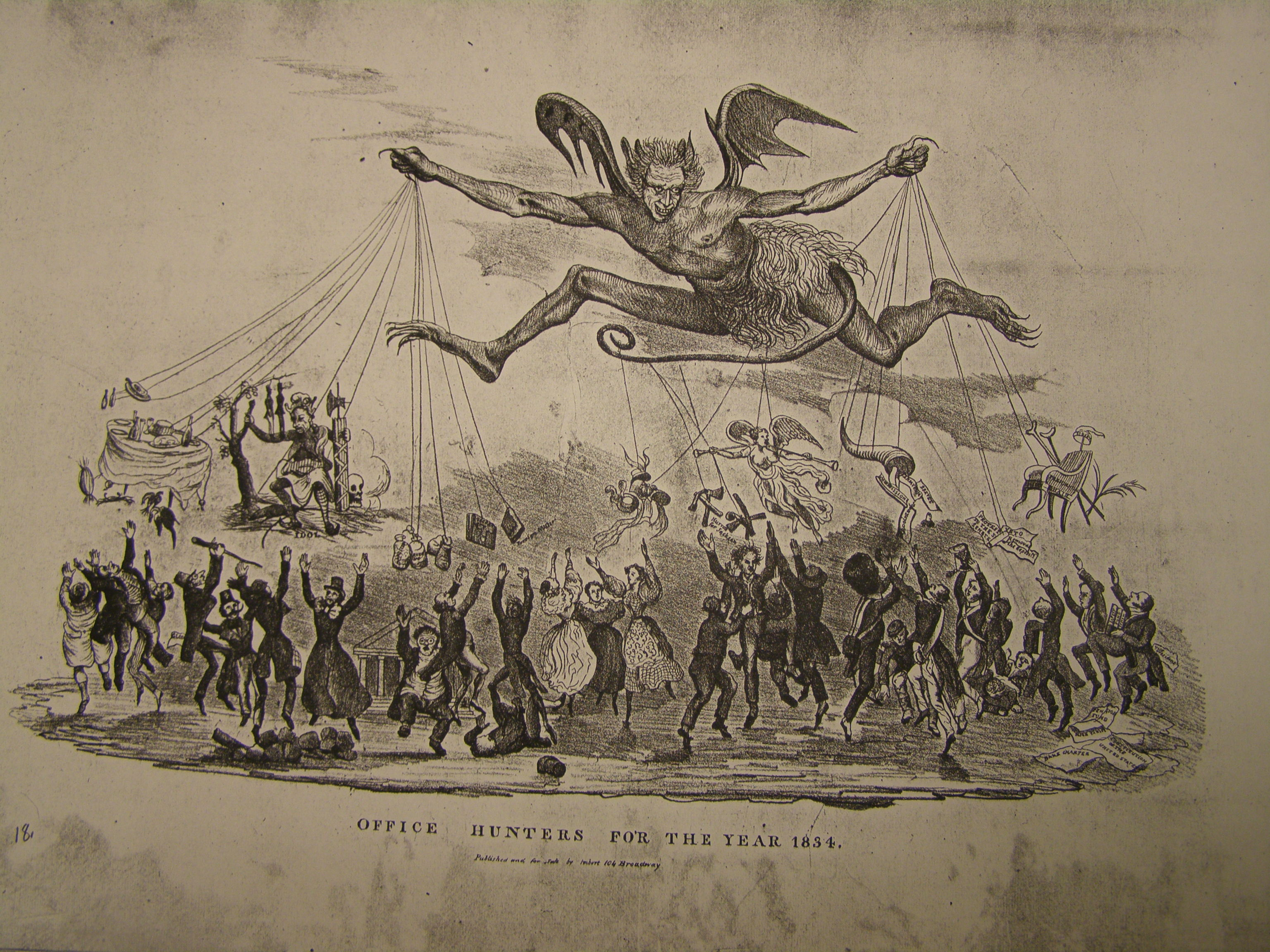 ajackson debate link cartoon office hunters for 1834