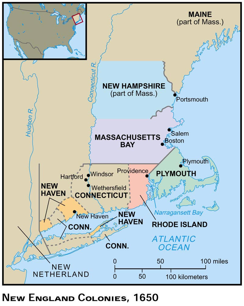 New england vs chesapeake colonies
