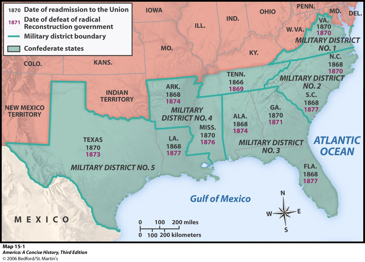 Recon Mapjpg - Map of united states during reconstruction